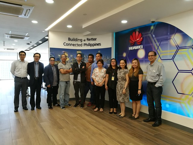 With Huawei CSIC people