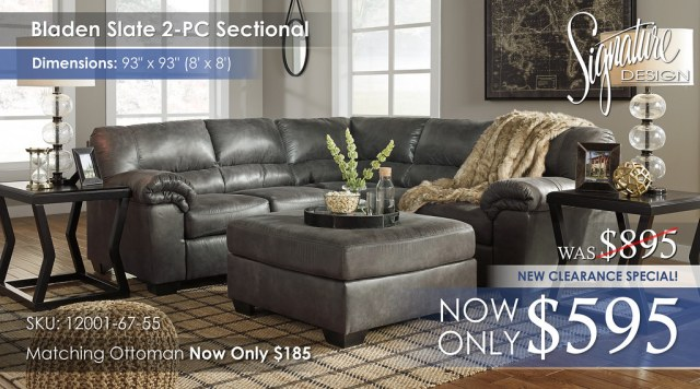 Bladen Slate 2PC Sectional 12001-55-67-08-T592