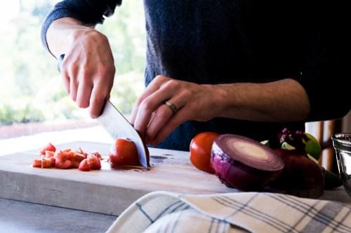 juicy roma tomatoes are perfect for pico de gallo