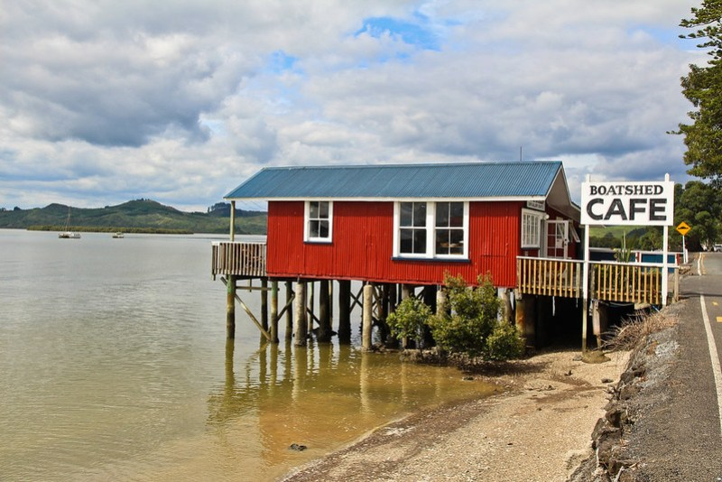 The Boatshed Cafe at Rawene, Hokianga, New Zealand