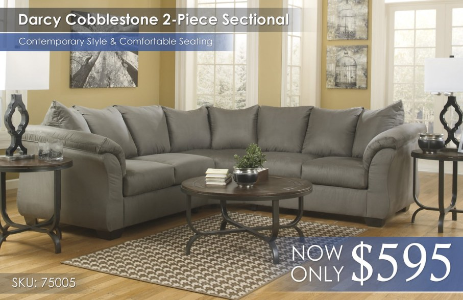 Darcy Cobblestone Sectional 75005-55-56-T238