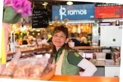 La Boqueria market Barcelona shop owner