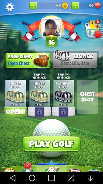 golf clash review home