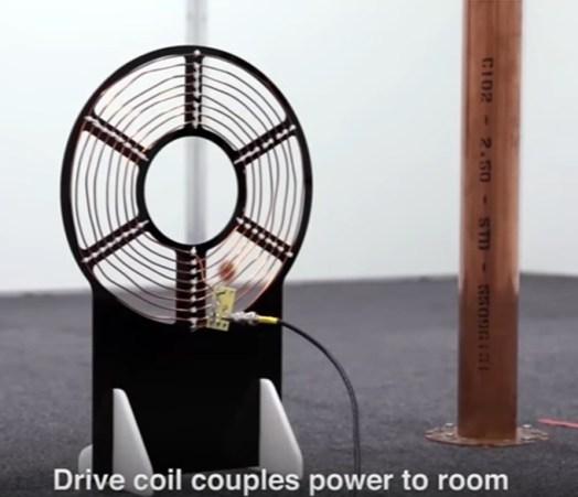 Transferencia inalámbrica de energía con cobre