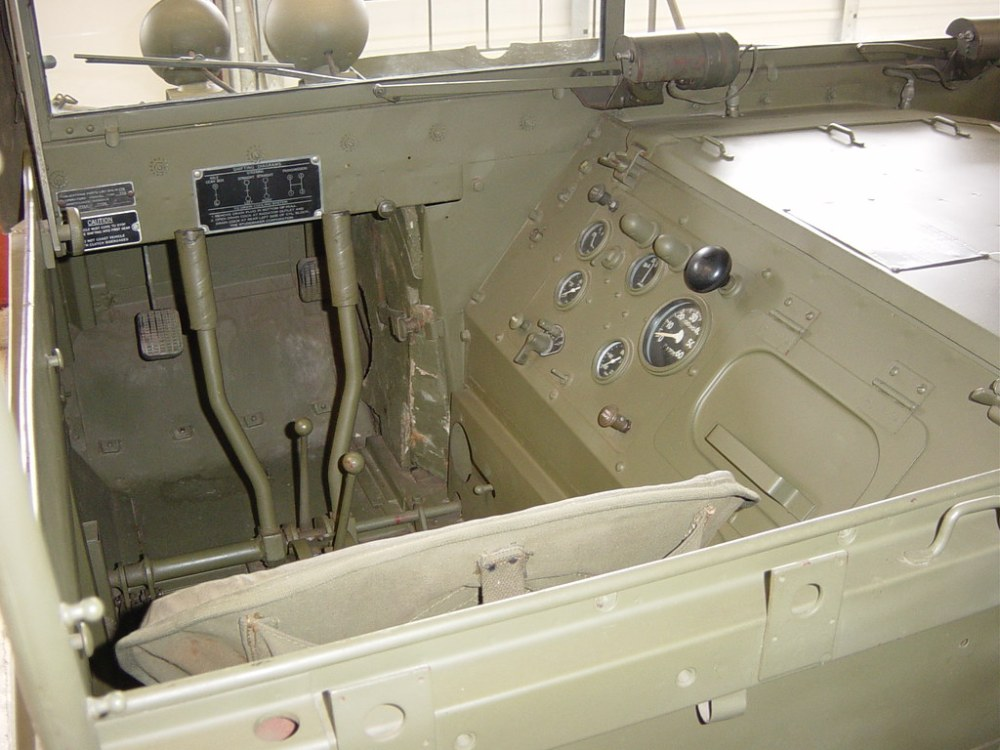 medium resolution of  us m29 weasel driver s position by