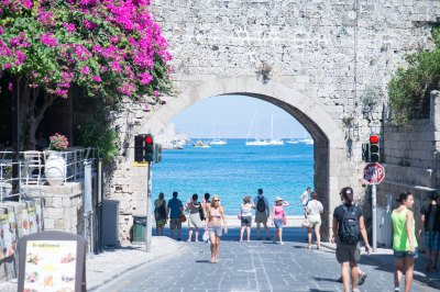 Rhodes old town greece