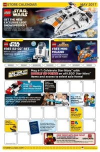 LEGO May 2017 Store Calendar Promotions & Events - The ...
