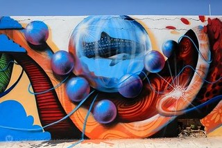 PangeaSeed's Sea Walls Expeditions: Murals For Oceans. Recently completed in Isla Mujeres, Mexico was PangeaSeed's Sea Walls Expeditions: Murals For Oceans. The week long street art project found artis http://ift.tt/1sNJeRp