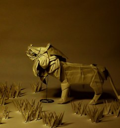 lion diagram test folded by son byung hoon by green cube [ 1024 x 850 Pixel ]