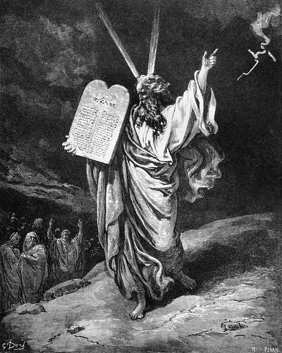 Gustav Dor Moses Giving the Law on Mt Sinai  CC0