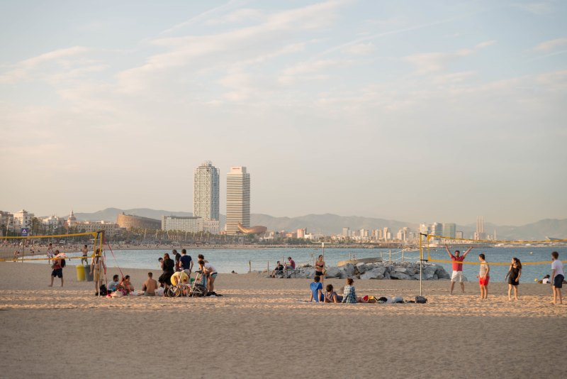 Barcelona spain beach view