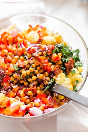 Warm Rice Medley Salad with Fried Chickpeas | the whinery
