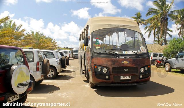 Bus Ara Moai (Maururu Travel) | Anakena | Inrecar Géminis - Chevrolet / HJRY62