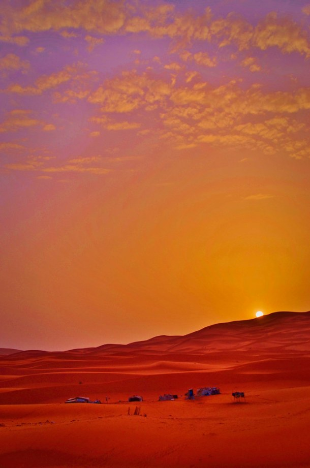 Sunrise over the Sahara Desert