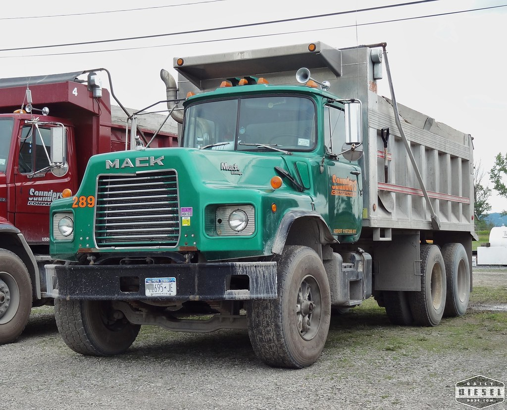 hight resolution of  mack dm dump truck saunders companies by daily diesel dose