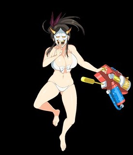 senran_kagura_peach_beach_splash _-_ murakumo_with_mask