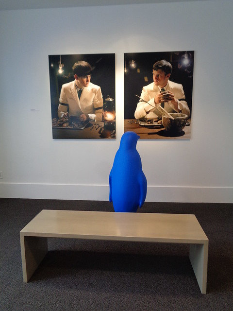 Blue Penguins Admiring Art, at Lexington KY 21c Museum Hotel
