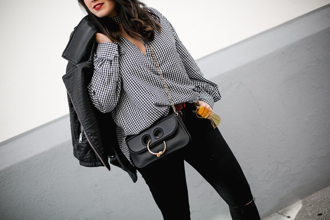 camisa-cuadros-vichy-chanel-slingback-pierce-bag-jw-anderson-myblueberrynightsblog