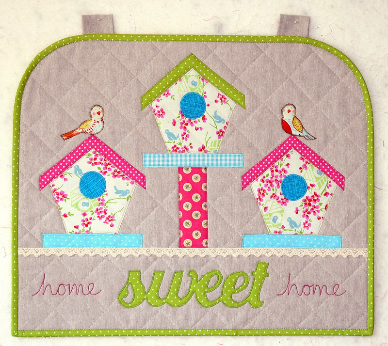 Home Sweet Home Spring Wallhanging (British Patchwork & Quilting magazine April17)