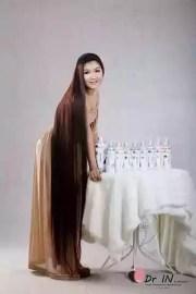 long hair model smangku