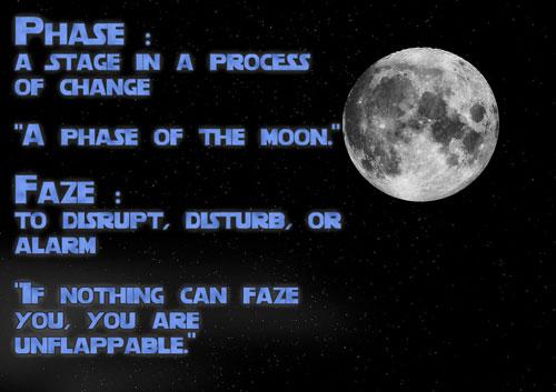 Faze or Phase Grammar image #AtoZchallenge #SFF @JLenniDorner