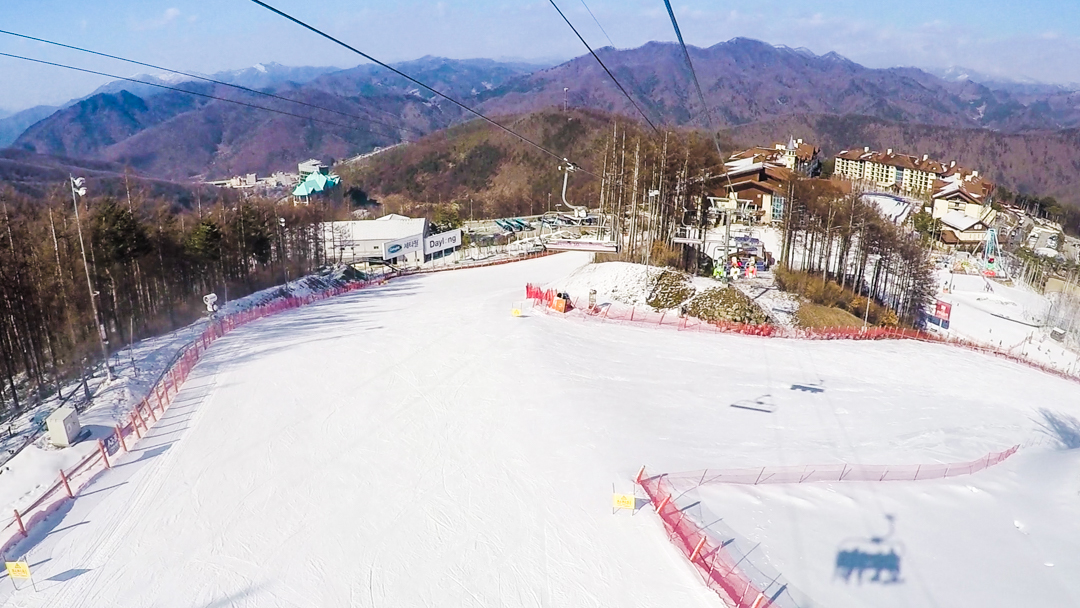 snowboarding in korea | high1 resort
