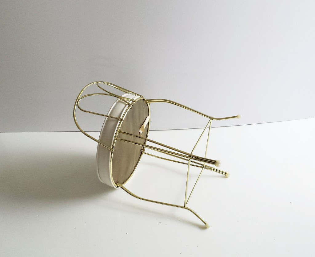 vintage vanity chair wedding covers llanelli stool george koch mid centur flickr century brass by tim