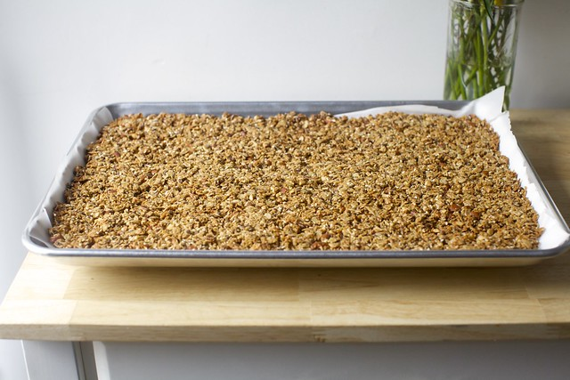 granola bark, baked