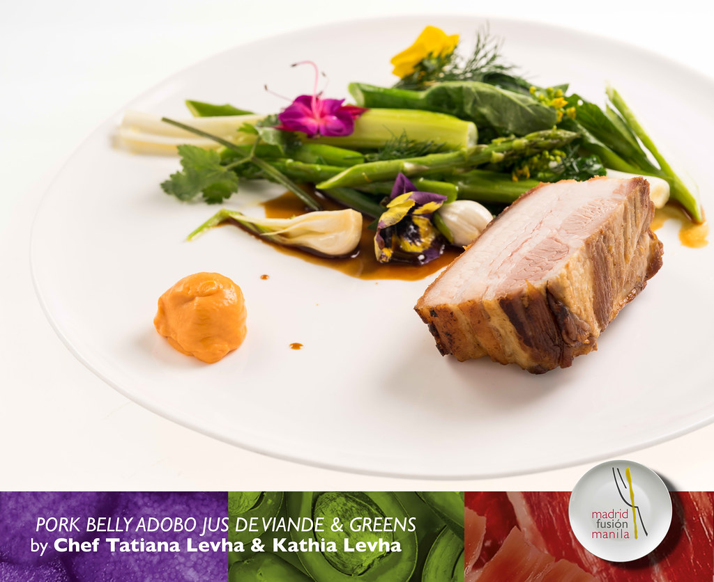 Tatiana-Levha-and-Kathia-Levha---Pork-belly-adobo-jus-de-viande-&-greens