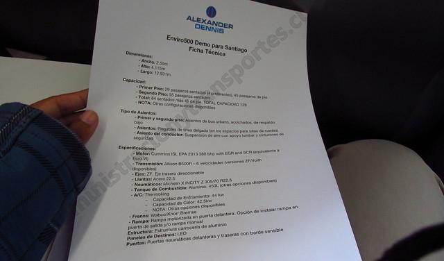 Ficha técnica ADL Enviro 500