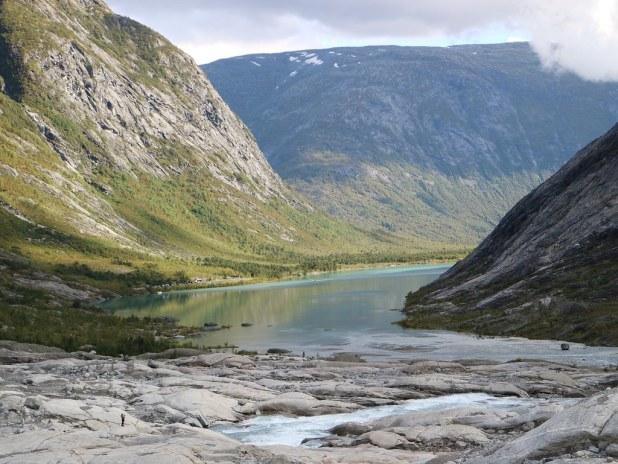 Valle glaciar en Noruega