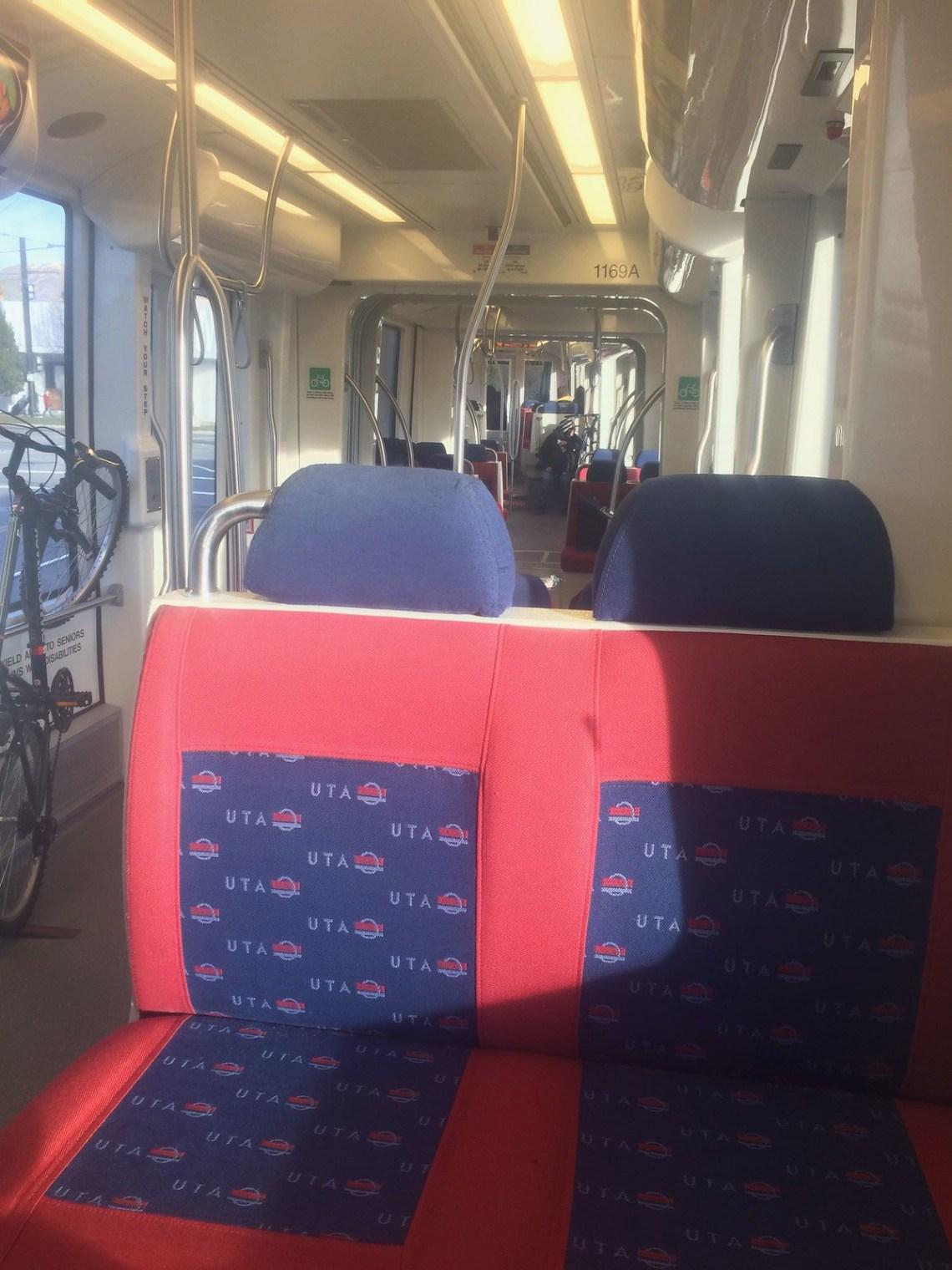 Cloth Seats on UTA Trax