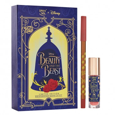 Beauty And The Beast Moisturizing Matte Lip Kit In Rose