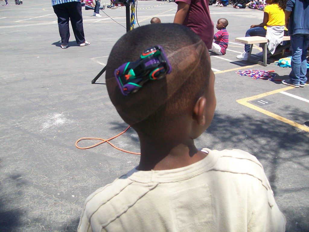 Race Track Hair Cut Baldwin Hills Magnet School Crazy