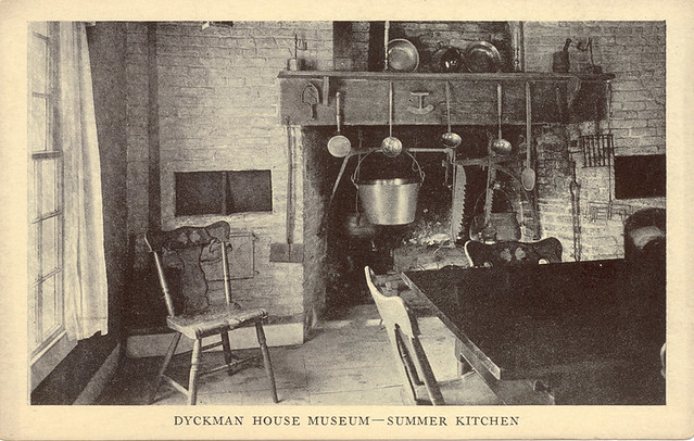 Dyckman Farmhouse Summer Kitchen  Postcard view 1916  Flickr
