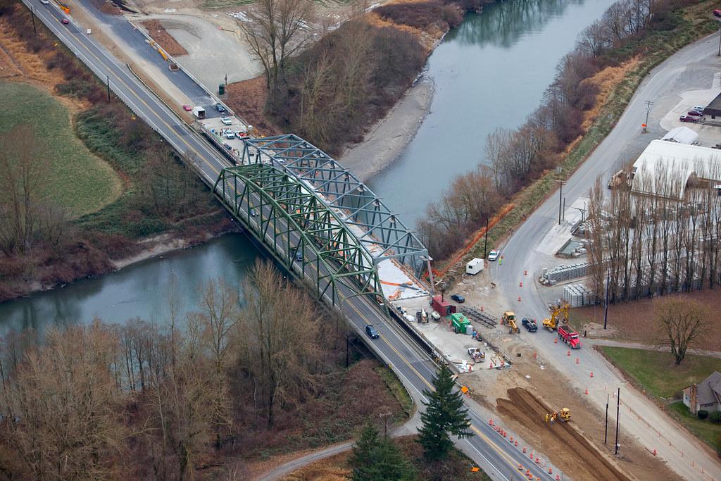 Aerial view of SR 539 Nooksack River Bridge  An aerial view  Flickr