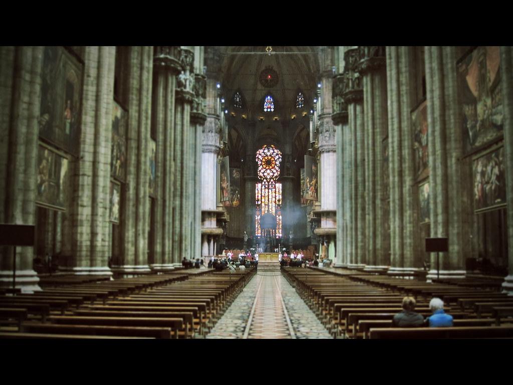 Inside Duomo di Milano Milan Cathedral  Inside the Milan