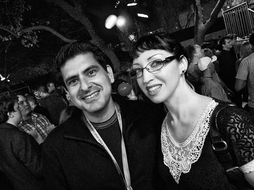 George Ruiz and Violet Blue at SXSW 2010