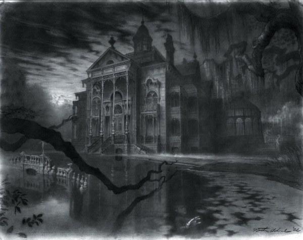 Haunted Mansion Movie Concept Sketch Nathan Schroeder'