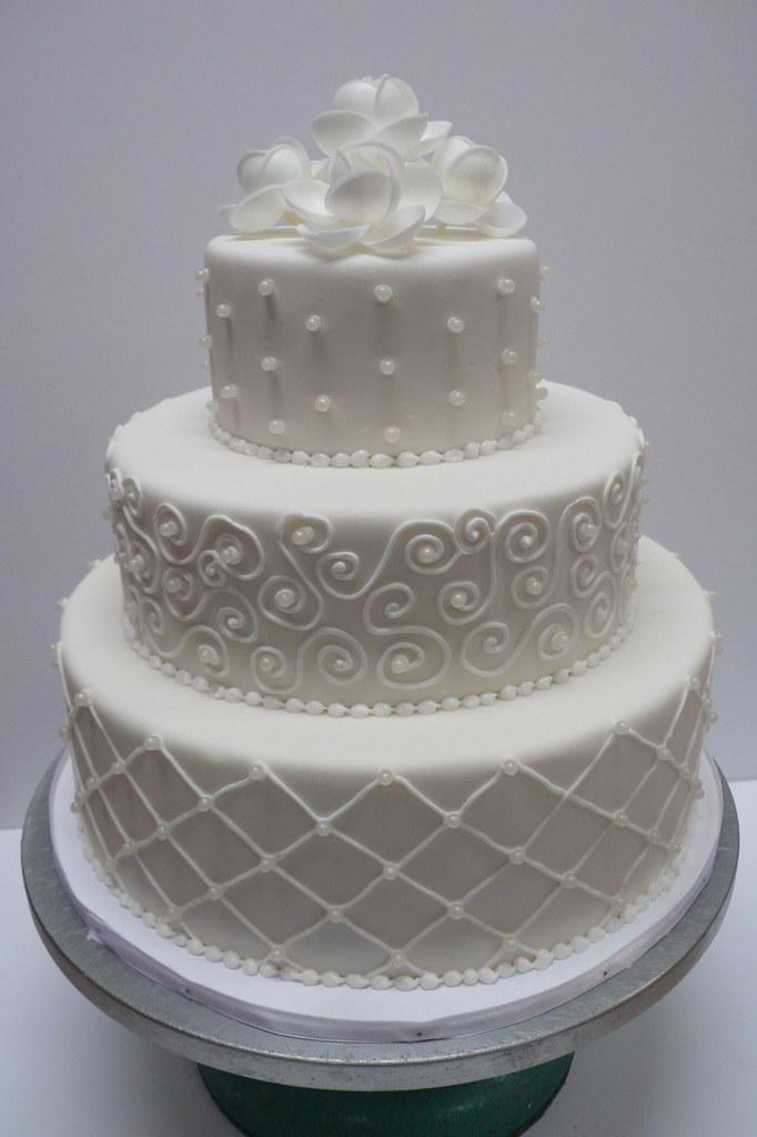 Classic White Fondant Wedding Cake Zoe Elizabeth