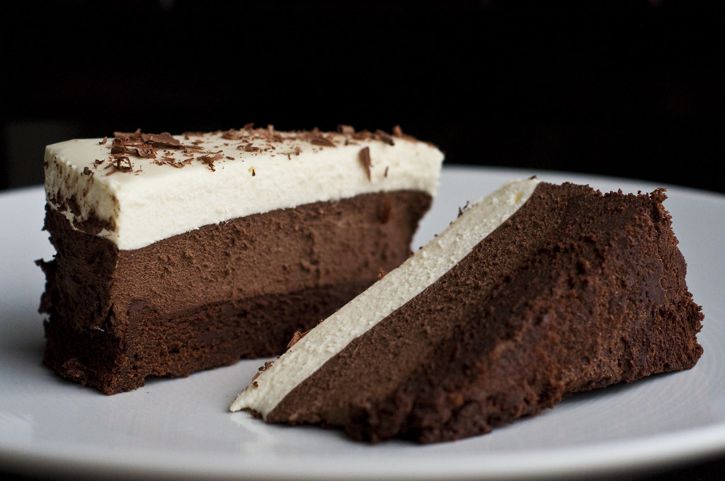 Triple Chocolate Mousse Cake  From Americas Test Kitchen