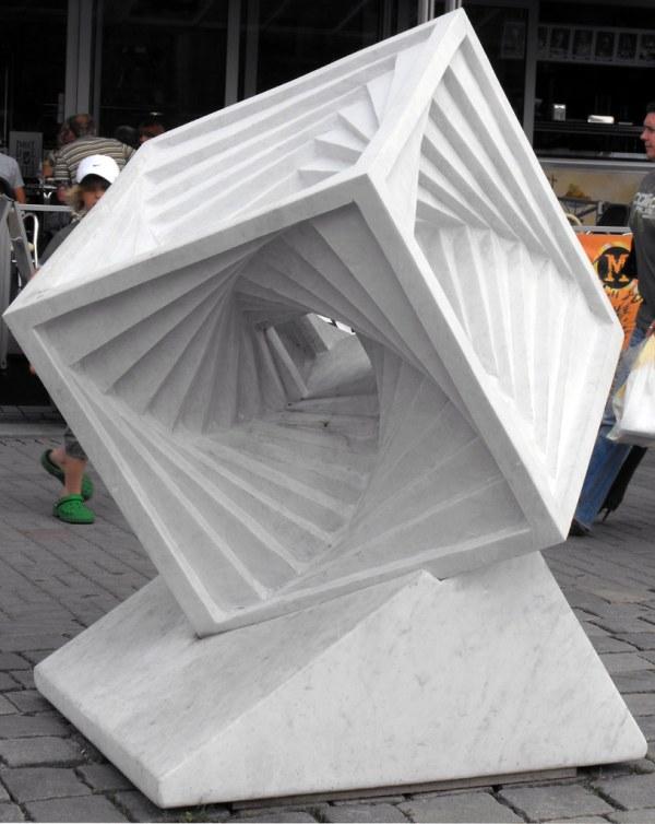 Marble Sculpture Cube Marmorskulptur Rfel Designovum