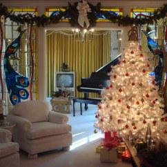 Living Room Pictures Gray Wood Flooring Christmas At Elvis Presley's Graceland | Elvis' ...