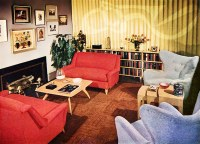 1950's interior | grab a red chair and a yummy cocktail ...
