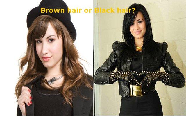 Brown Hair Vs Black HairDemi Lovato Which Do You Like