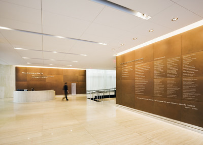 Corten Steel Lobby And Donor Walls At Cornell University
