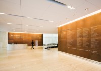 Corten-steel Lobby and Donor Walls at Cornell University ...