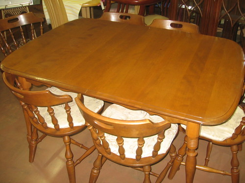 living room table and chairs decorating ideas colors schemes sold: mid-century rockport maple dining ...