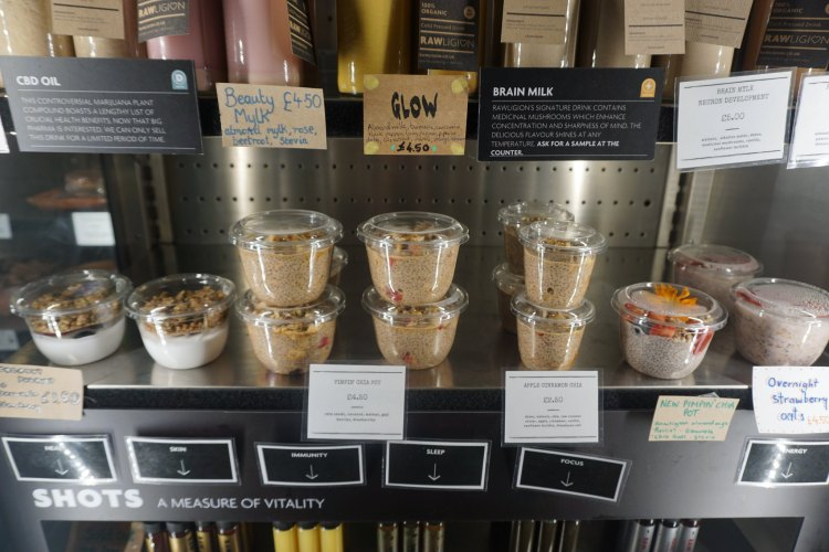 Rawligion chia pudding and dairy free yoghurt | raw vegan, gluten free, dairy free, plant based | Rawligion gluten free london | Fitzrovia