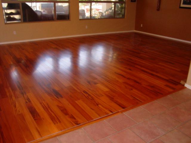 Tigerwood Hardwood Floor  1400 sf ArmstrongHartco engineer  Flickr